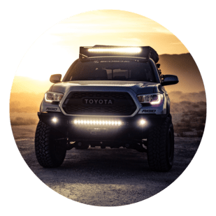 Front view of a Toyota truck, 3D Design Concepts