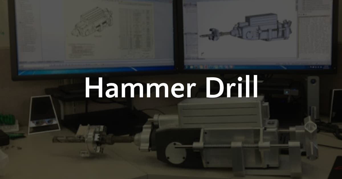 Hammer drill prototype, 3D Design Concepts