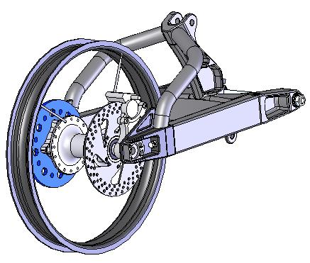 CAD drawing of rear caliper brake, 3D Design Concepts, Vista CA