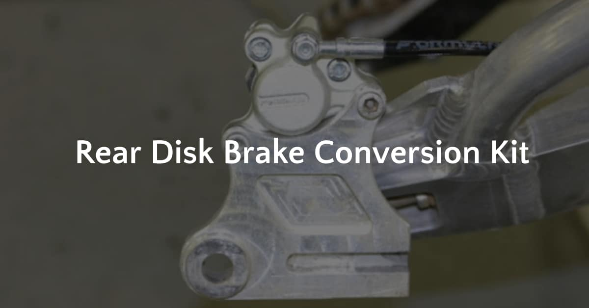 Rear disc brake conversion kit, 3D Design Concept,Vista CA